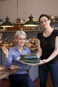 Catherine Cleary and Juliana Adelman serve up history on a plate.